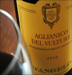 2012 Aglianico del Vulture from D'Angelo Winery