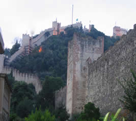 View of Marostica's walls