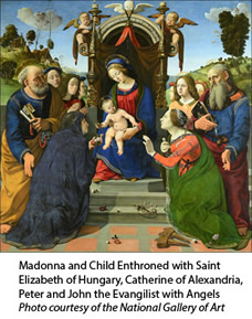 Madonna and Child Enthroned by Piero di Cosimo
