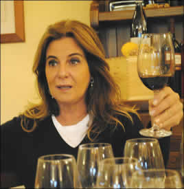 Deborah Cesari at Valpolicella tasting at the Cesari winery