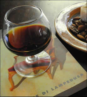glass of Marsal on book