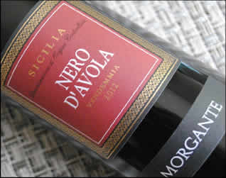 2012 Nero d'Avola from Morgante in Sicily