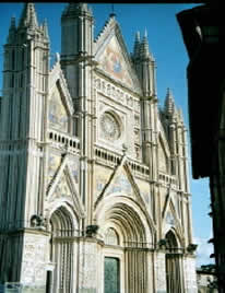 View of cathedral in Orvieto
