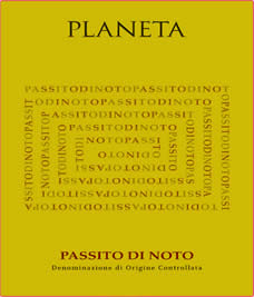 Passito di Noto label from Planeta winery