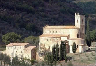 The Abbey of Sant'Antimo outside of Montalcino