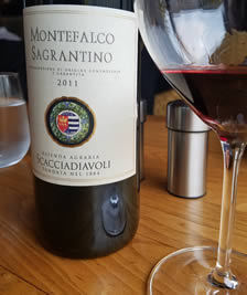2011 Montefalco Sagrantino DOCG from the Scacciadiavoli winery in Umbria
