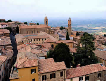 View of Montalcino from La Fortezza